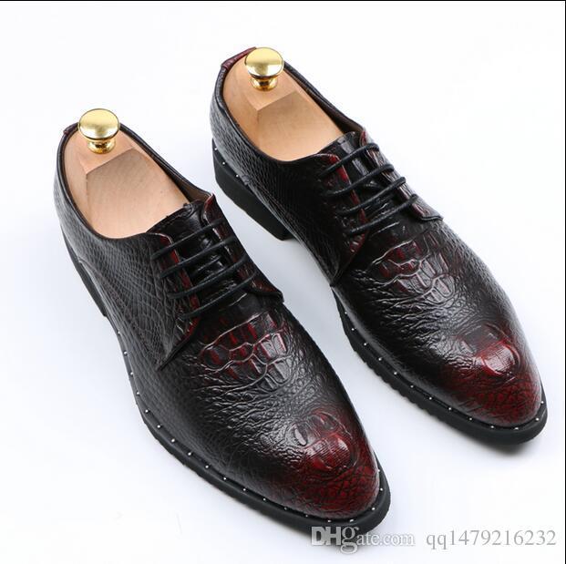 Erkek Elbise Ayakkabı 2016 DYANMIC erkek Sivri Burun Klasik Moda Siyah / kırmızı Iş Oxford Ayakkabı Rahat Ayakkabı size38-44 a37