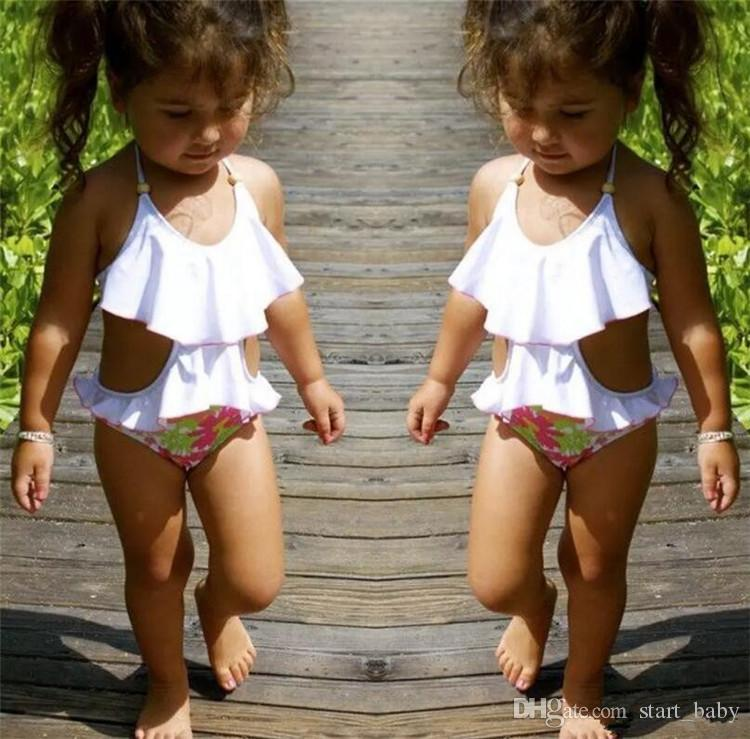 kids girls swimwear hot selling casual lovely red blue bathing clothing suits children swimsuits high quality cheap price factory outlet B11