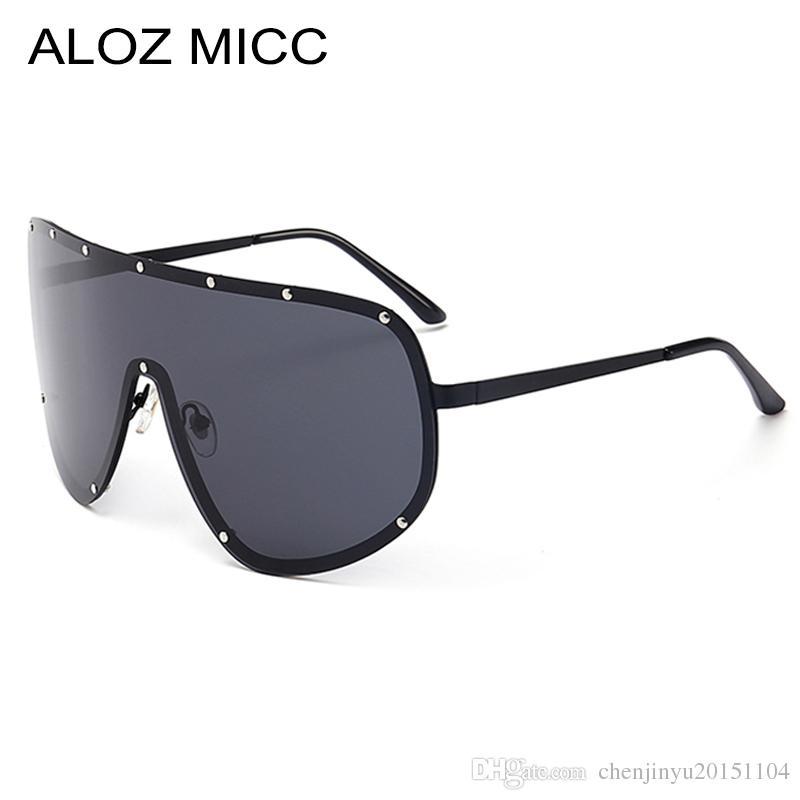 7070339975e ALOZ MICC Brand Sunglasses For Men Polarized Oversized Frame Alloy Metal  Glasses Designer Sunglasses Women Hot Eyeglasses UV400 A055 Best Sunglasses  Dragon ...