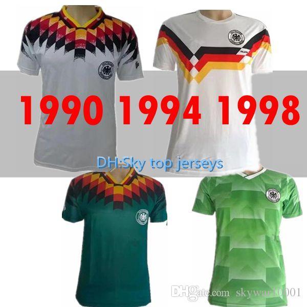 Compre 1990 1994 1988 Alemanha Versão Retro VINTAGE CLASSIC Camisa De  Futebol KLINSMANN 18 Matthias 10 Em Casa 2018 2019 Camisas JERSEY De  Skywar10001 759f42526a2a6