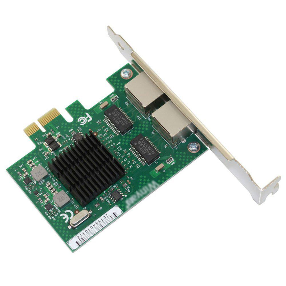 E575T2 Dual-port PCI-E X1 Gigabit Ethernet Network Card 10/100/1000Mbps LAN Adapter Controller Wired intel 82575 E1G42ET