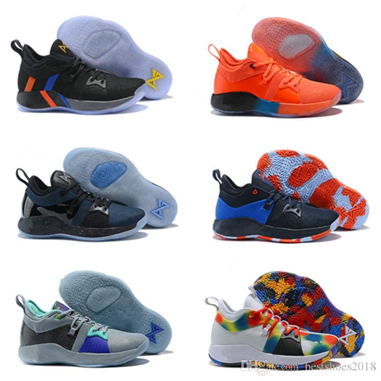76fee8ce7b0e40 2018 High Quality PG2 PS4 Black BLue PG 2s Athletic Shoes Paul George 2  Basketball Shoes Us7 12 Best Youth Running Shoes Kids Running Gear From ...