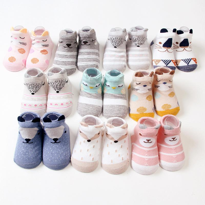 more photos 65c0d 2f18f Neugeborenes Baby-Socken-Tier 3D Schuh-Socken reizendes  Karikatur-Baby-nicht Beleg, der 2pair / lot Kinder nett verteilt