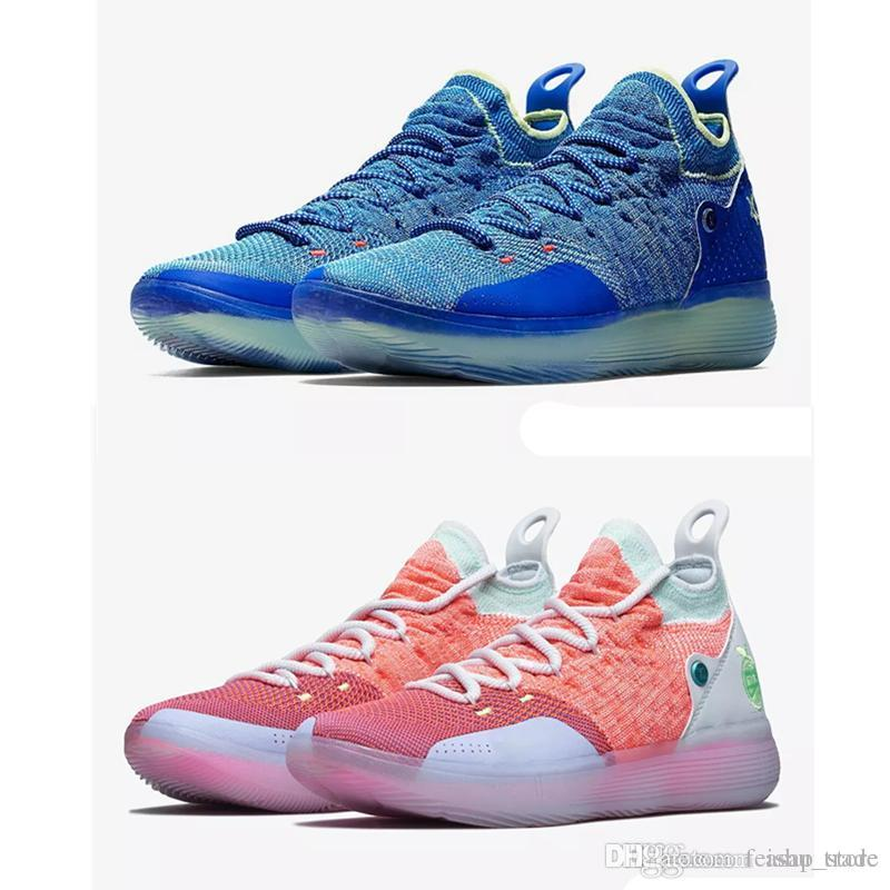 f037f4c23b3 2018 New Arrival KD 11 Mens Basketball Shoes Paranoid Still Blue ...
