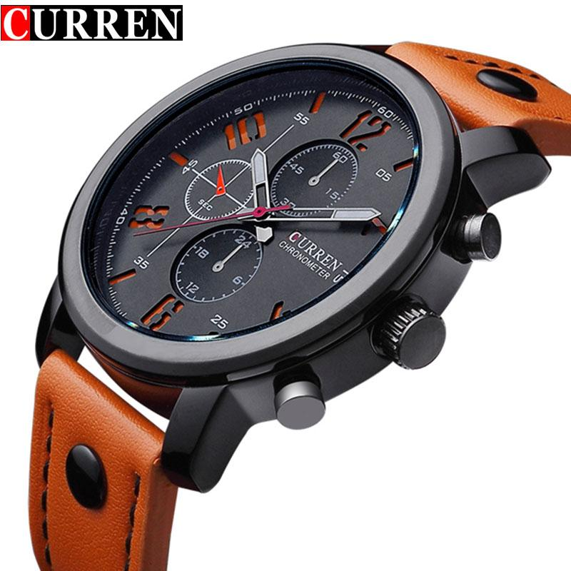 c371929e3c17 Fashion Brand Quartz Watch Men Casual Leather Strap Business Wristwatch  Military Sport Relogio Male Montre Homme Curren 8192 New Sports Watches  Designer ...
