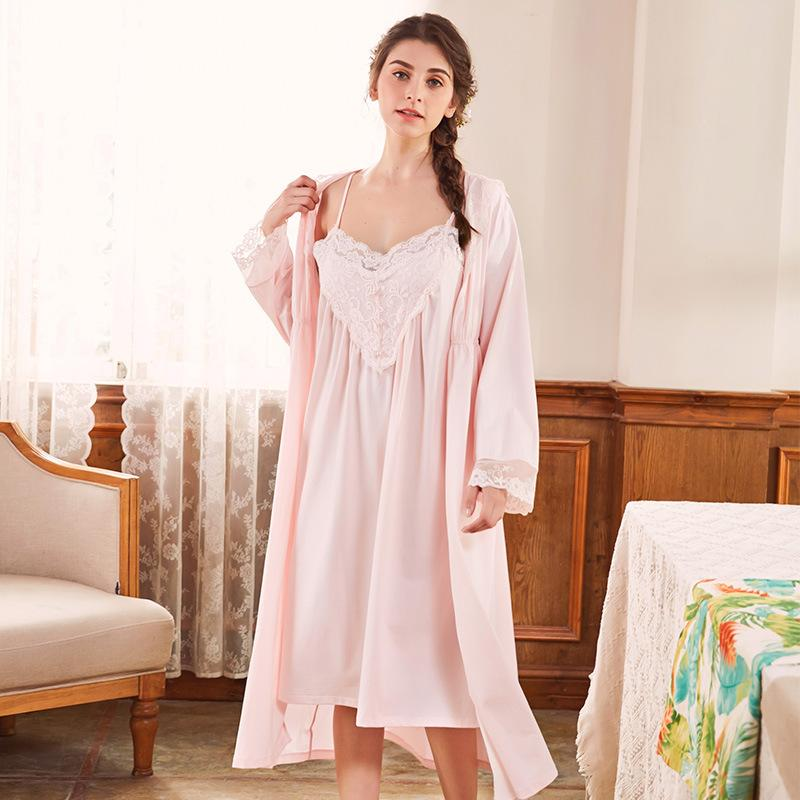 2019 Womens Victorian Nightgown Vintage Sleepwear Nightdress Robes Royal Pajamas  Lounge Wear GT055 From Sincha d3b4ae473