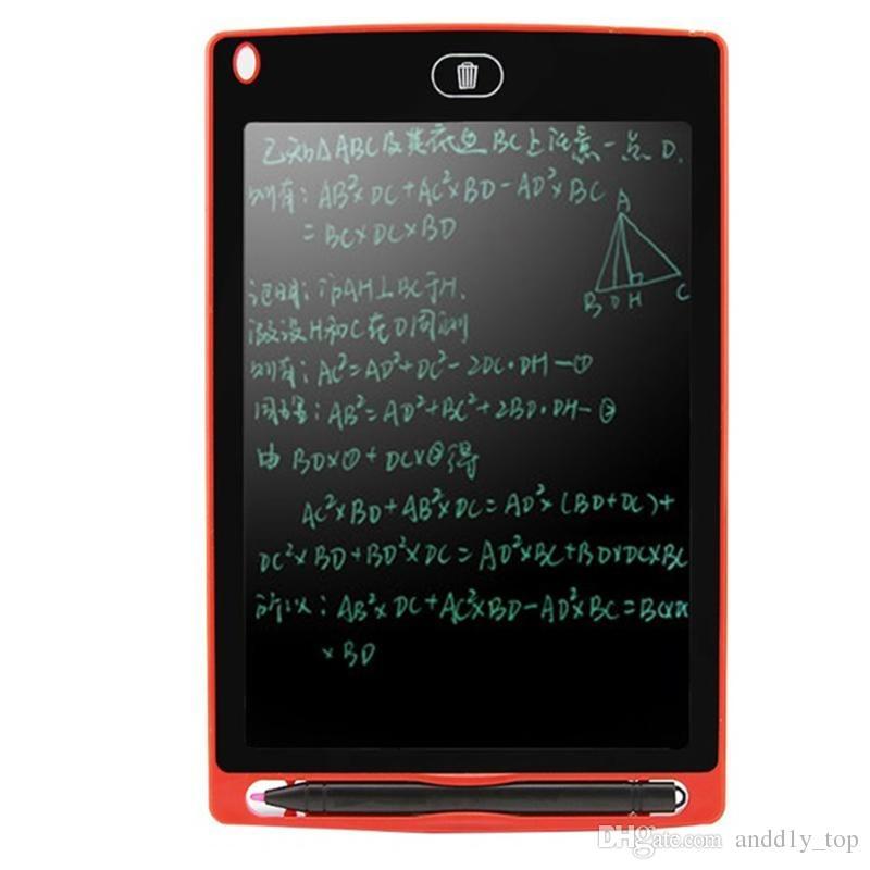 8,5 pouces LCD écriture planche à dessin tablette Tableau noir Handwriting Tapis cadeau pour les enfants sans papier Bloc-notes avec un stylo comprimés Mémo Upgraded