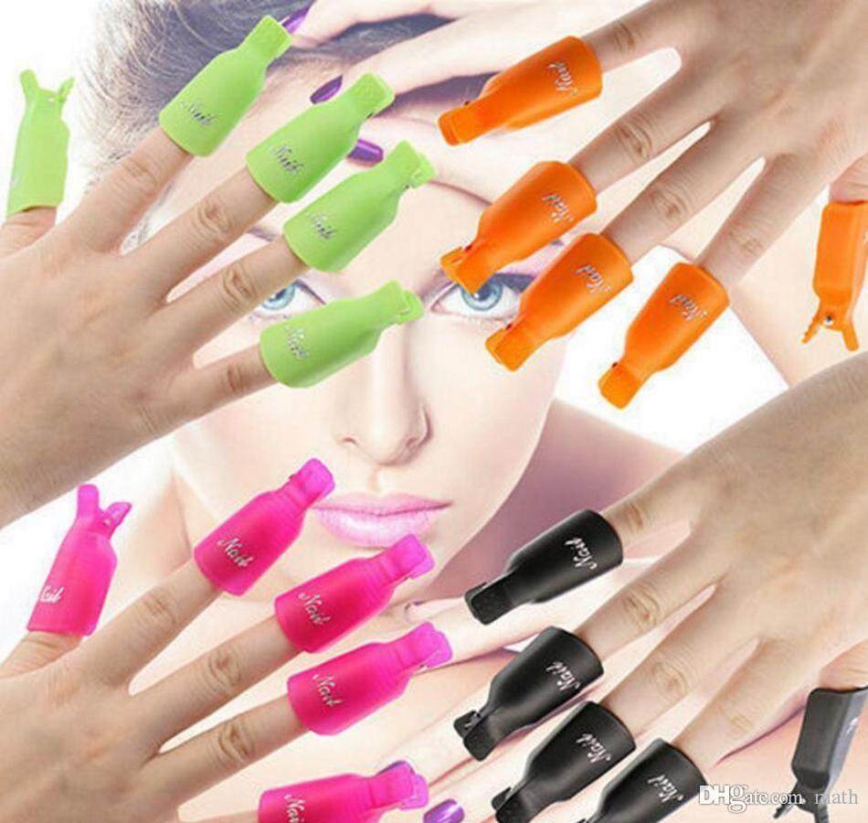 Plastic Nail Art Soak Off Cap Clip Uv Gel Polish Remover Wrap Tool ...