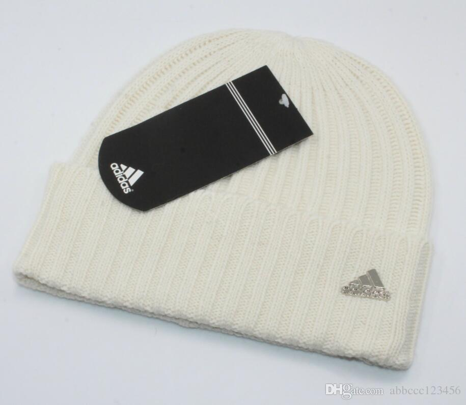 f8b60158af Fashion sports brand winter knitted hat for men and women Hat hem warm hat  free of freight