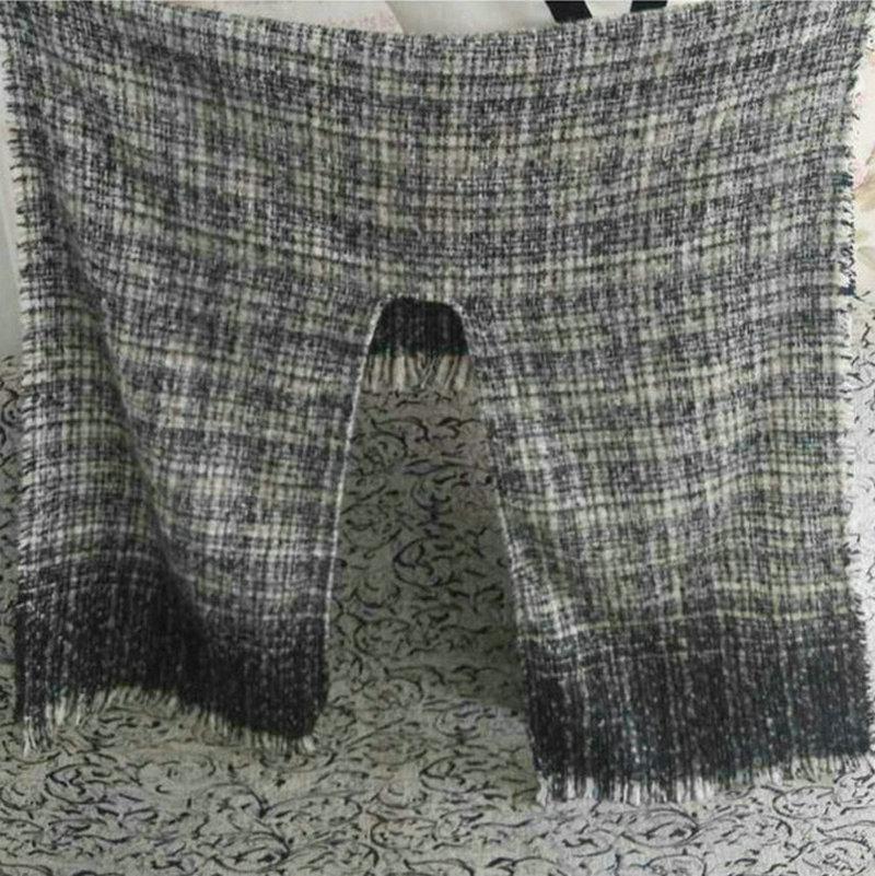 Kış boy kalın sıcak pelerin kaşmir yün akrilik ekose şallar çift taraflı şal moda vintage panço GENÇ MAĞAZA YG074