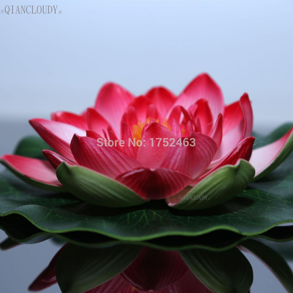 2018 Pe Foam Dark Pink Artificial Fake Foam Lotus Leaf Flowers Water