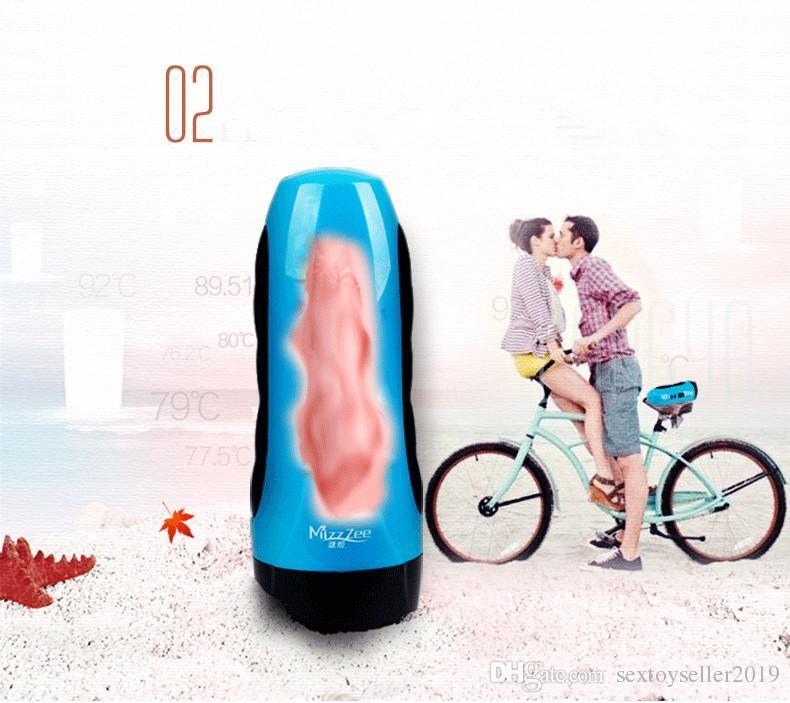 2016 Nuevo Leten USB Cargado 10 Velocidad Vibración Niñas Vagina Realista Artificial Coño Masculino Masturbador Adulto Juguetes Sexuales para Hombres