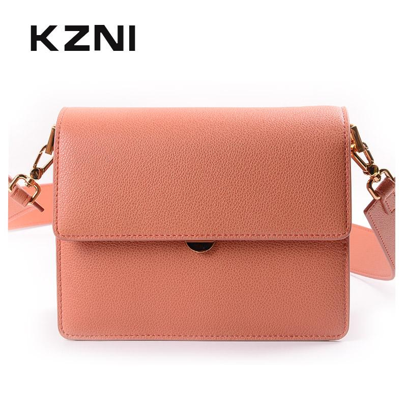 009a6b4437 KZNI Genuine Leather Crossbody Bags For Women Leather Shoulder Bag Lady  Women Small Handbags Female Femmes Sac 9036 Leather Briefcase Wholesale  Handbags ...