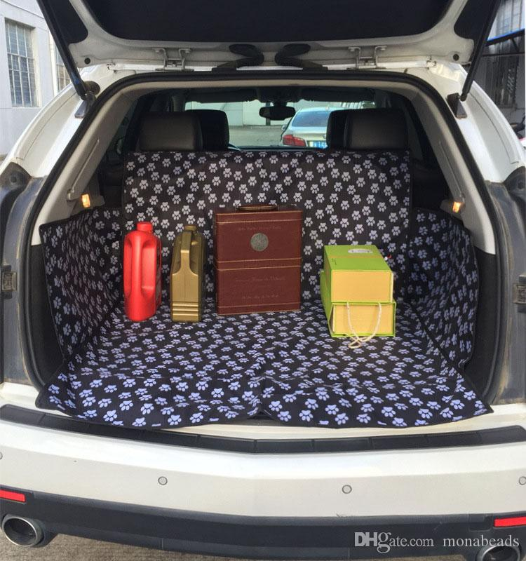 Waterproof Anti-dirty Oxford Cars Pet Seat Covers Dog Car Mats Pet Pad Dog Car Seat Covers Car Trunk Mat Dog Supplies