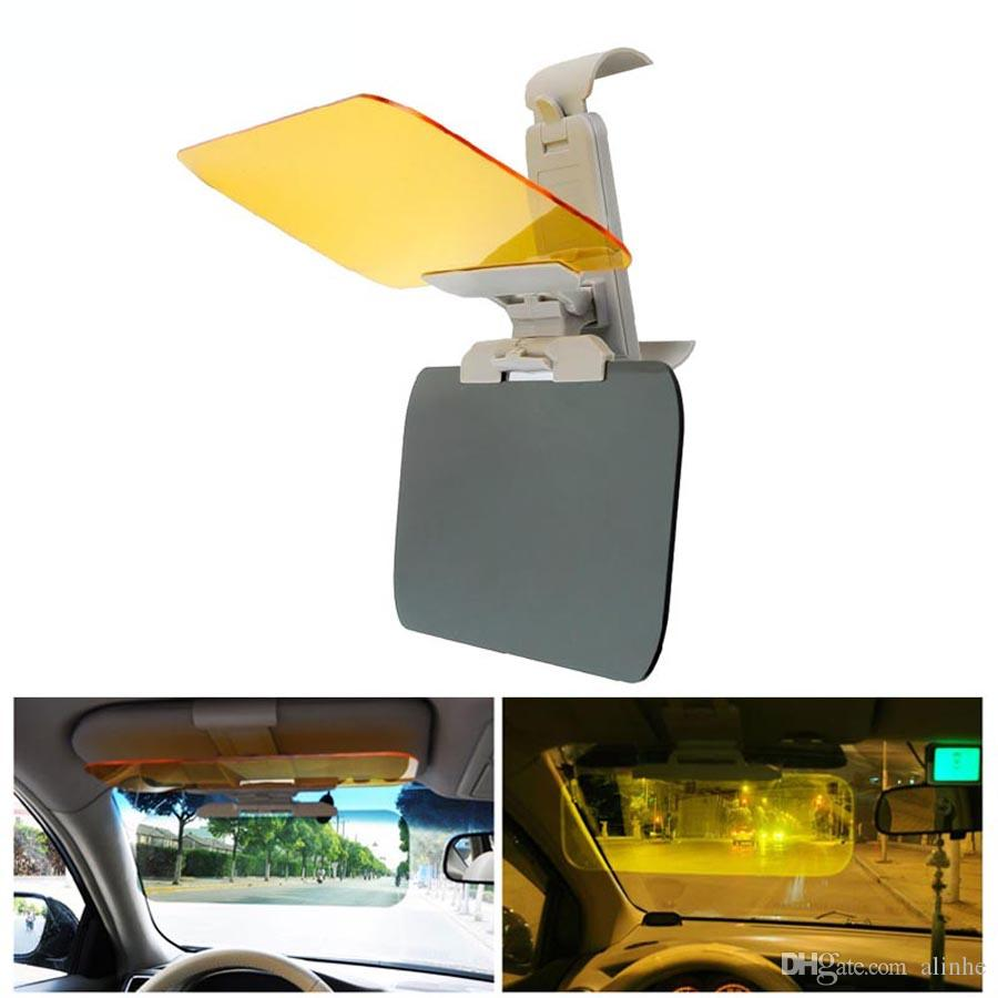 2 In 1 Car Sun Visor Hd Anti Glare Dazzling Goggle Uv Blocker Day Night Vision Clear View Driving Mirror Auto Replacement Parts