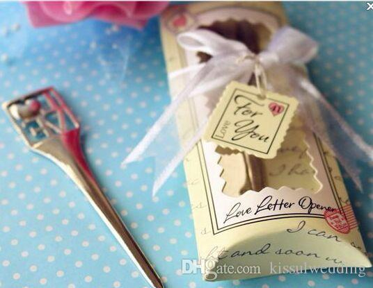 Unique Wedding Favors Of Chrome Love Letter Opener Wedding