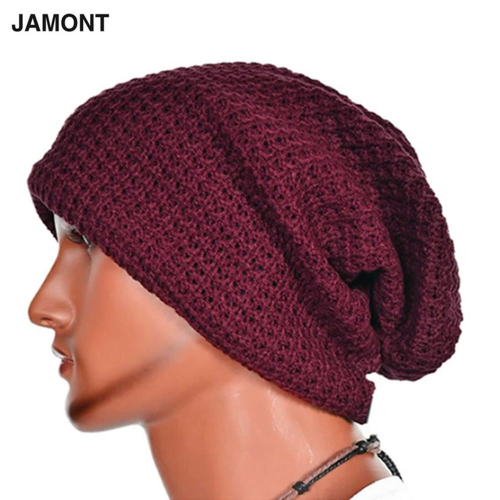 da0aa34f368c 2019 Casual Chic Men S Loose Beanie Hats Caps Winter Women Men S Skullies  Warmth Knitted Beanies Solid Color Oversized From Enhengha