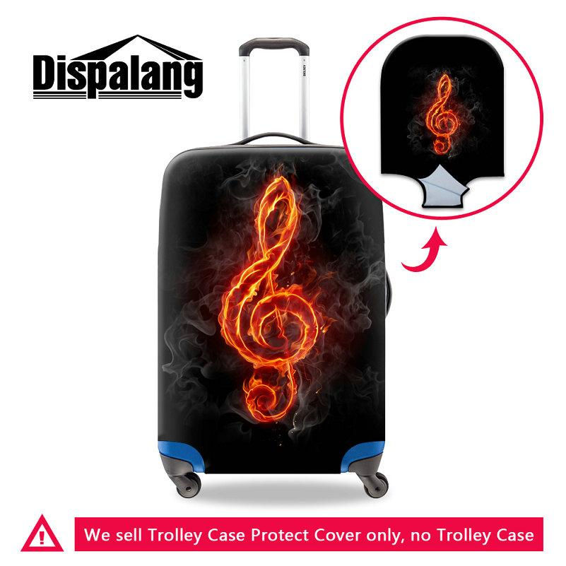 Newest Luggage Protective Cover For 18-30 Inch Trunk Case Elastic Stretch Dustproof Rain Trolley Suitcase Covers Musical Note Pattern Cover