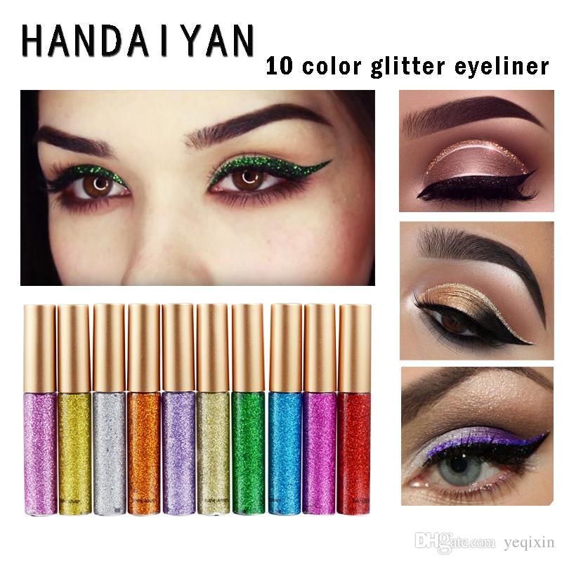 Handaiyan Glitter Liquid Eyeliner Pen Metallic Shine Eye Shadow