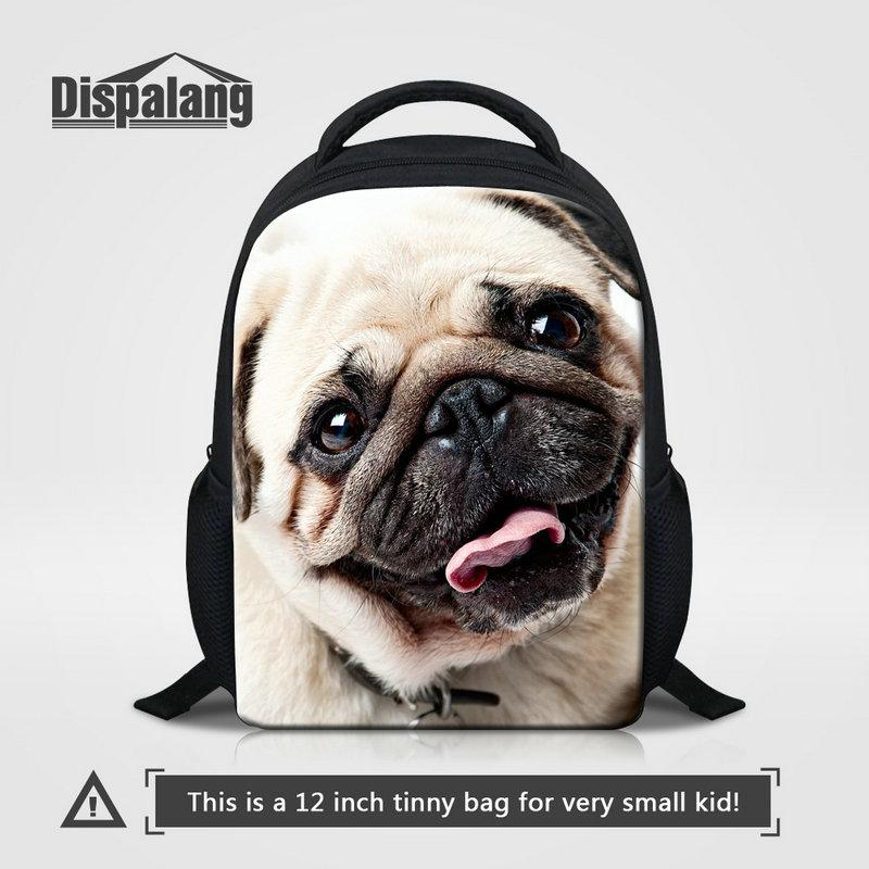 New Little Kids School Bag Pug Puppy Dog