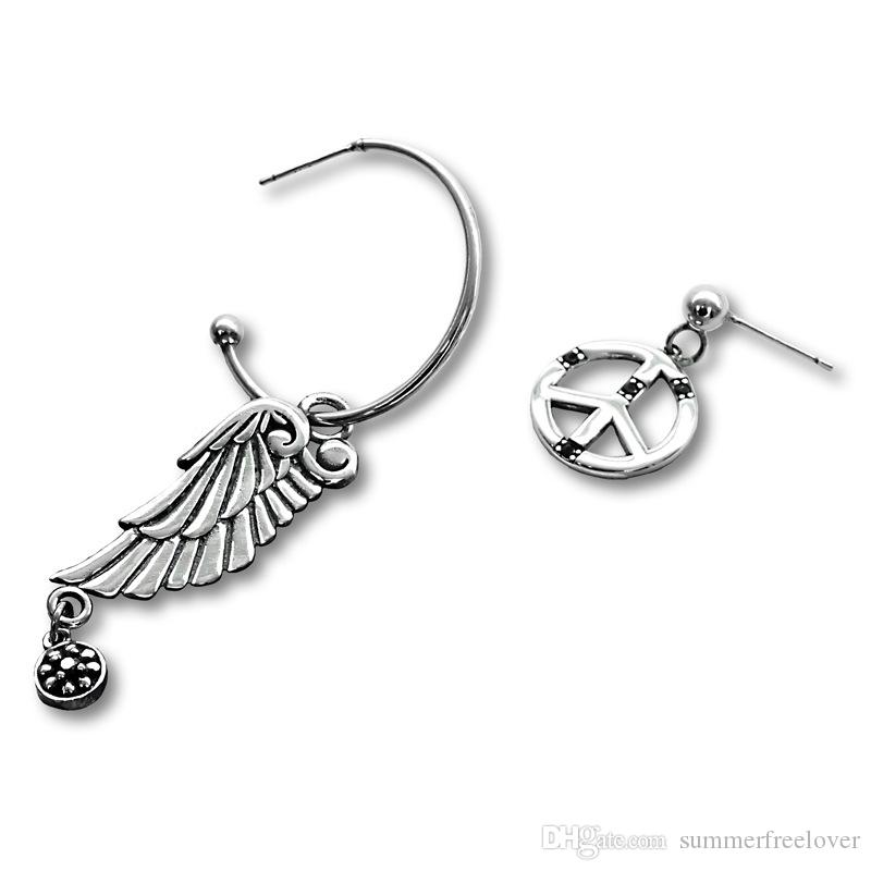 57f7f7fb80d0b New Arrival Exquisite Silver Jewelry For Female Swarovski Gems Elegant  Angel Wing Airplane Annulus Pendant Earrings