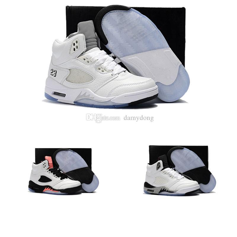 brand new 5736f ae86c Acheter Nike Air Jordan 5 11 12 Retro Enfants Chaussures Big Boy Livraison  Gratuite XII GS Rose Limonade Chaussures De Basket Ball Femmes Enfants 12s  Rose ...