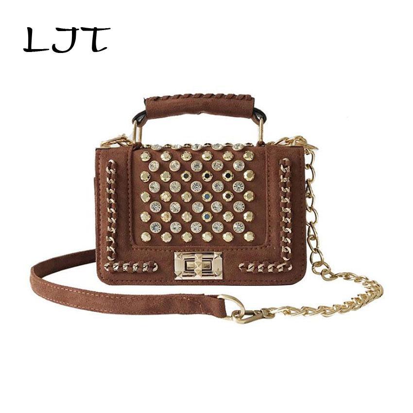 223b88858d4d LJT Luxury Women Designer Handbags High Quality Brand Mini Small Crossbody  Shoulder Bag Clutch Women Retro Rivet Leather Handbag Leather Satchel Ladies  Bags ...