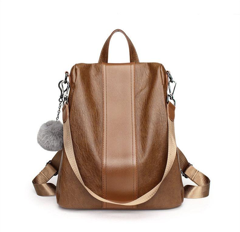 0f53692b41a Bolish New Travel Backpack Korean Women Female Rucksack Leisure Student  School Bag Soft PU Leather Women Outdoor ShoulderBag Drawstring Backpack  Black ...