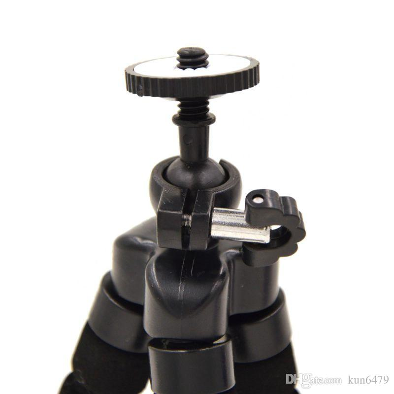 Mini Portable Flexible Tripod Holder Mount Stand For Action Camera Go pro Hero 3/3+/4 Accessories Mobile Phone for iPhone Samsung