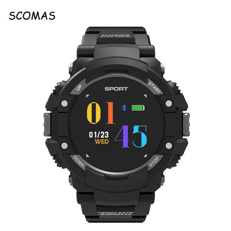 12b67f7f6283 Celular Reloj SCOMAS 2018 Nuevo F7 Impermeables Reloj Deportivo Inteligente  Para Hombres GPS Altímetro Barómetro Brújula Monitor De Frecuencia Cardíaca  ...