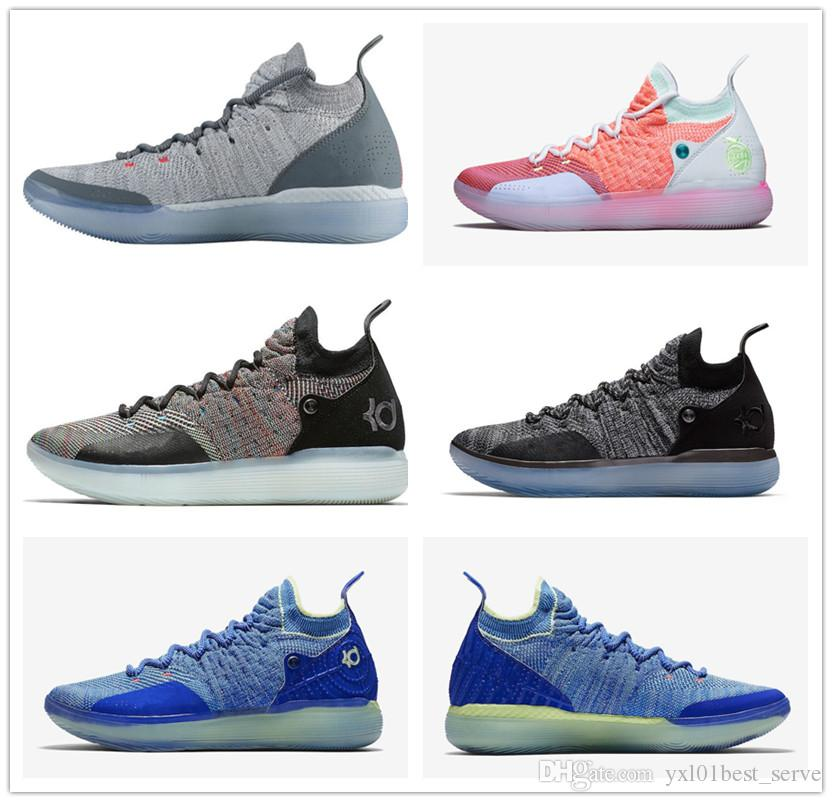 030aa5976f7 ... wholesale cheap sale kd 11 ep cool grey eybl multicolor still mens  basketball shoes aaa quality