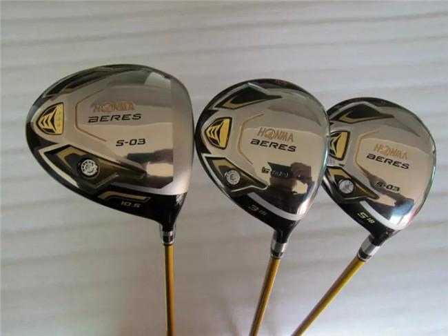 Brand New 3pcs 3 Star S 03 Wood Set S 03 Golf Woods Golf Clubs Driver Fairway Woods Graphite Shaft With Head Cover