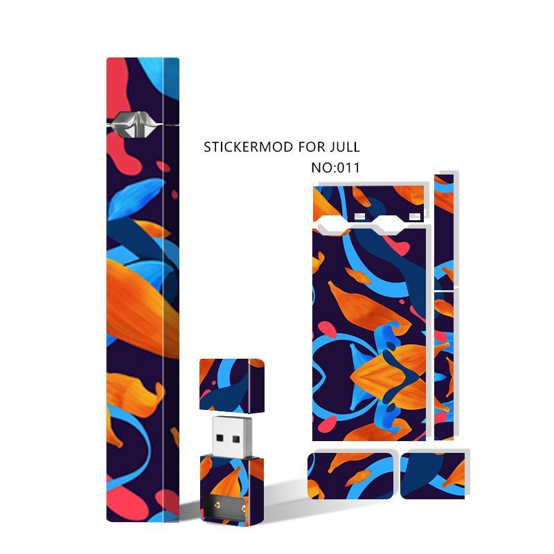 Skin Skins Wraps Decal Sticker Cover Cover Sleeve Jul Battery Starter Kit e Caricabatterie USB Vape Pen Mod Adesivi protettivi 23 Disegni