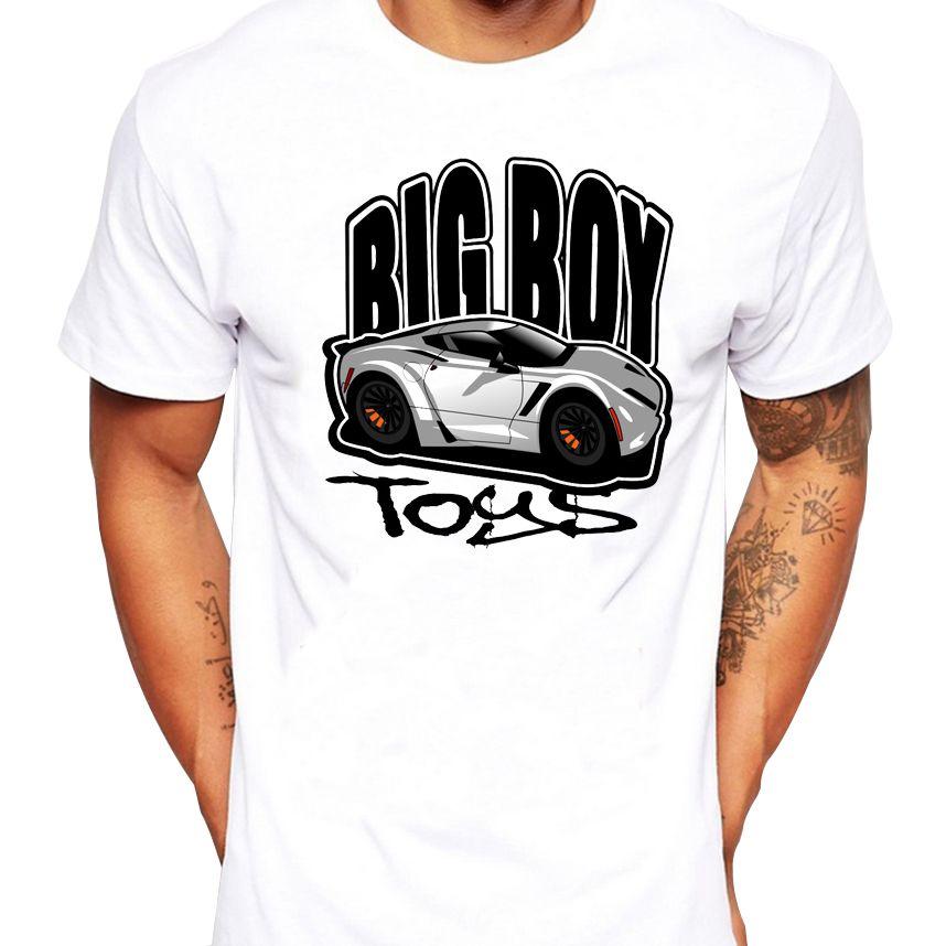 2018 Summer Men T Shirts Newest Fashion Big Boy Toys Vette Design T
