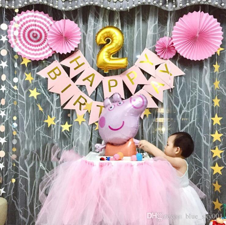 Bar Birthday Letter Banner Children Baby Layout Flag Party Supplies Decorations Items Online
