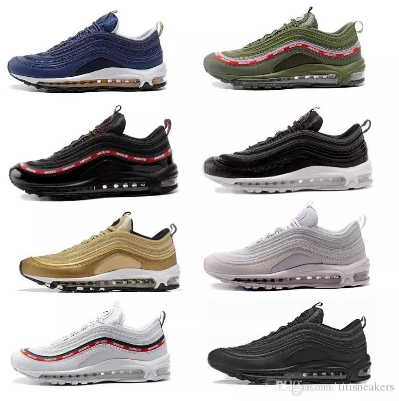 With Box Mens Athletic 97 QS Silver Gold Bullet Running Shoes Brand Adult  Air Black Red Blue Grey Run Sneaker US7 US12 Sports Direct Kids Running  Shoes ... 49467f60467d
