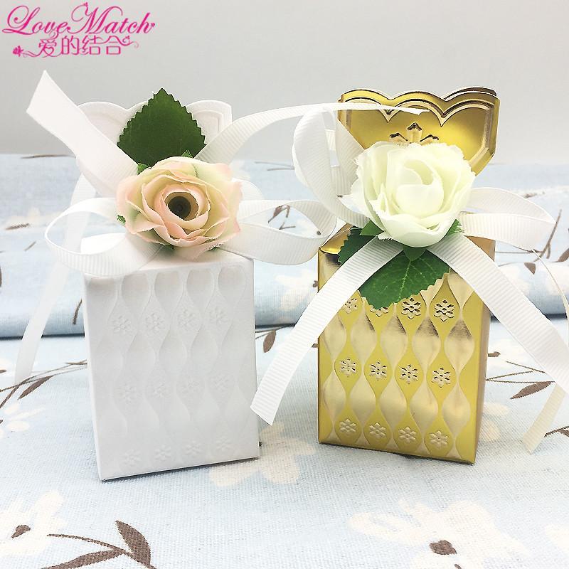Love Match Flower Vase Wedding Favors Box Gift Boxes Baby Shower