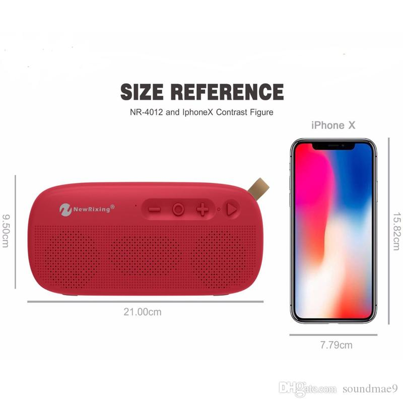 on sale fee36 9d7d9 Outdoor Waterproof Wireless Bluetooth Speaker with Leather Buckle Small  Hands Free Speakers Support USB TF Card FM Packging Soundmae
