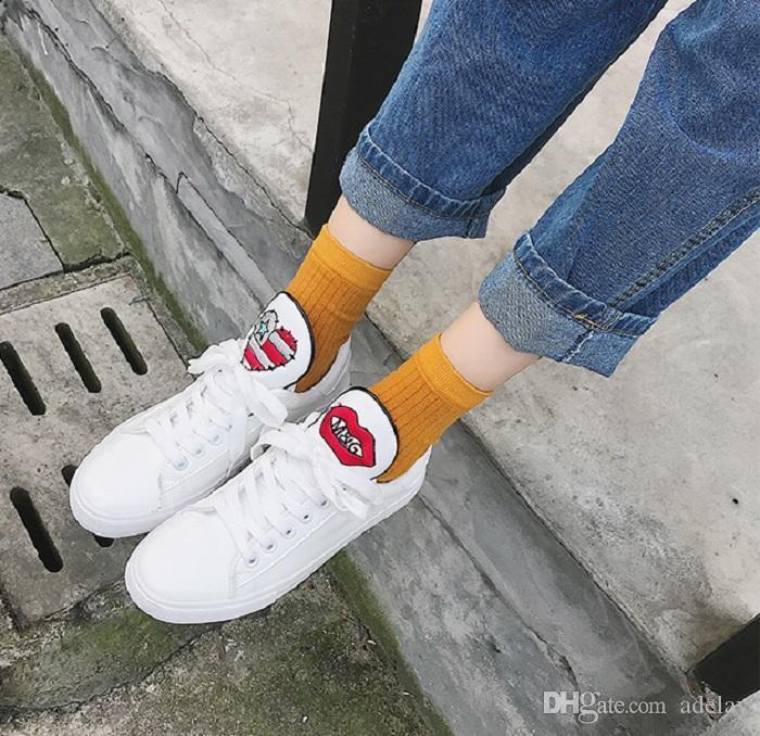 8e6af2cb5 Compre Mulheres Sapatos 2018 Primavera Bordado Flor Chique Sapatos Casuais  Sapatilhas Sapatos De Couro Branco Bege Floral Do Vintage Estilo 35 39 De  Adelay, ...