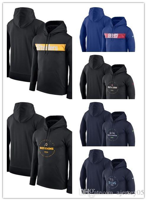 timeless design 48012 80ee6 Men's New Sweatshirts Giants Steelers 49ers Seahawks Titans Redskins  Sideline Property of Wordmark Logo Performance Pullover Hoodies