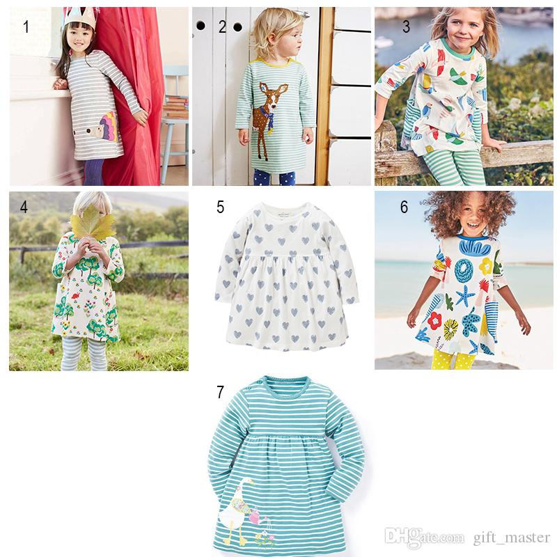 a63375371c Casual Long Sleeve Dress for Baby Girl with Animal Pattern Soft ...