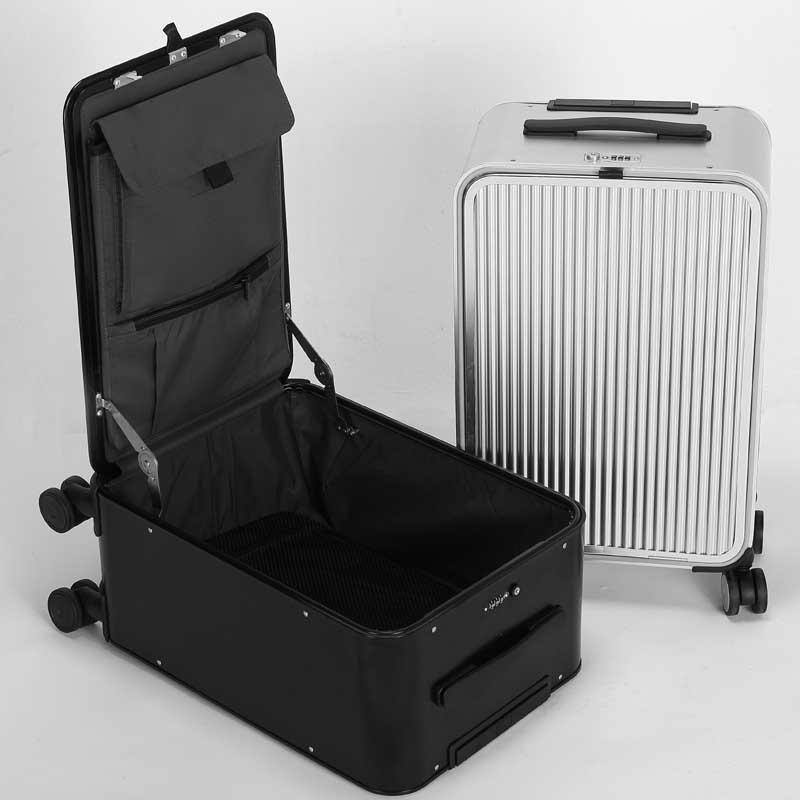 3bea579ddd5 New 100% Aluminum Magnesium Alloy Rolling Luggage Spinner High Capacity  Suitcase Wheels 16 Inch Cabin Trolley Travel Bag Overnight Bags For Women  Childrens ...