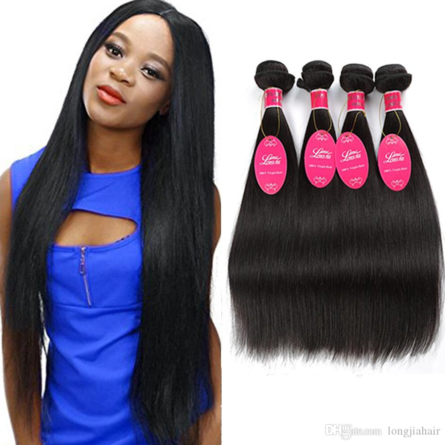 8a Unprocessed Human Hair Extensions 3 Or 4 Bundles Brazilian
