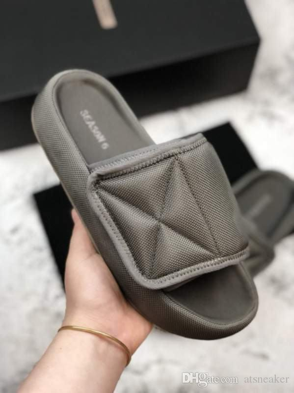 4a99eb50b Kanye West Season 6 Nylon Slides Best Quality Men Women Memory Foam ...