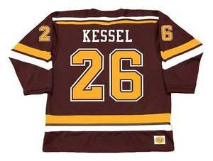 Mens, mulheres, miúdos-PHIL KESSEL Minnesota Gophers 2005 camisas personalizadas Hockey do NCAA MN do NFC do Goalit corte Jerseys