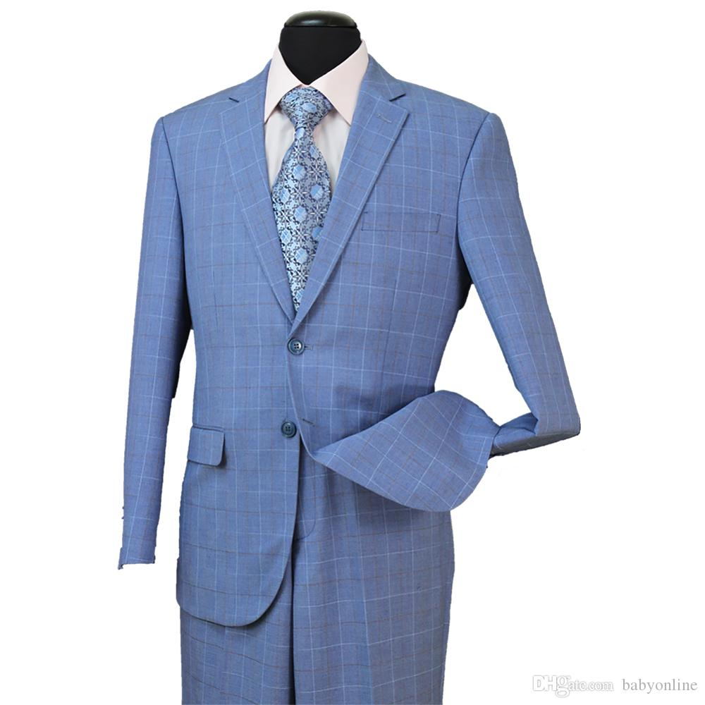 STOCK IN USA 10% Wool Men Regular Fit Formal Tuxedos Suit with Buttons Single Breast Side Vent Mens Formal Wedding Tuxedos Wear ST006
