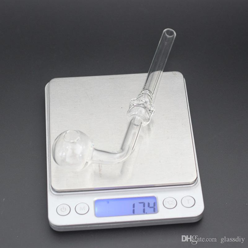 In Stock Clear Skull Glass Pipe Smoking Water Clear Glass Oil Burner Glass Tube Smoking Pipes Oil Nail Somking Pipes