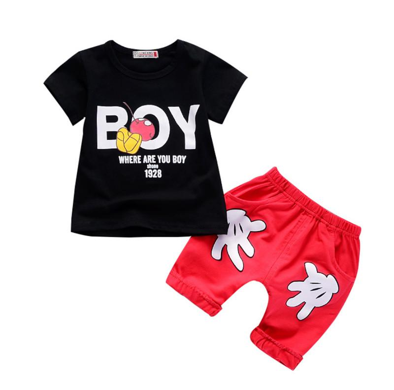 14ea4a48 Summer Boys Clothing Sets Kids Cartoon Clothes Suit for Little Boys t-shirt+ shorts 2pcs Sport Suit Toddler Baby Boys Set