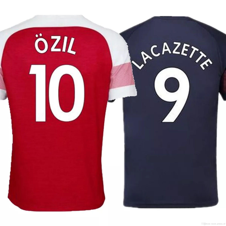 Maillot De Fútbol Del Nuevo Arsenal De Tailandia 2018 2019 AUBAMEYANG  MKHITARYAN OZIL JERSEY 18 19 Arsenal Camiseta De Fútbol Del Arsenal  LACAZETTE XHAKA ... 6fb6b43c7cc71