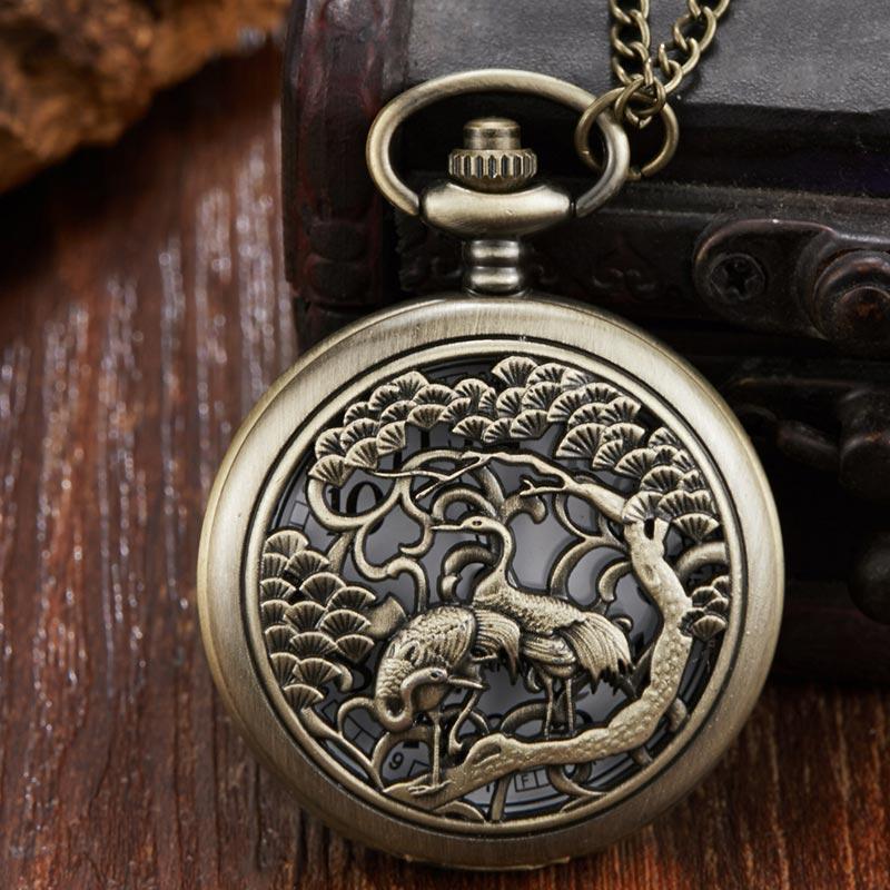 33e154df848 Compre Vintage Bonito Oco Birds Fullmetal Alchemist Relógio De Bolso De  Quartzo Das Mulheres Dos Homens De Bronze Relógio Homens Colar De Cadeia De  Bolso ...